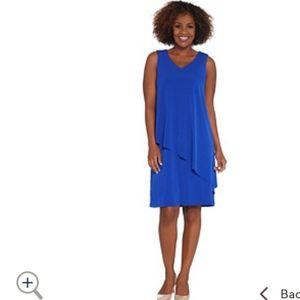 Susan Graver Black Asymmetrical Hem Dress